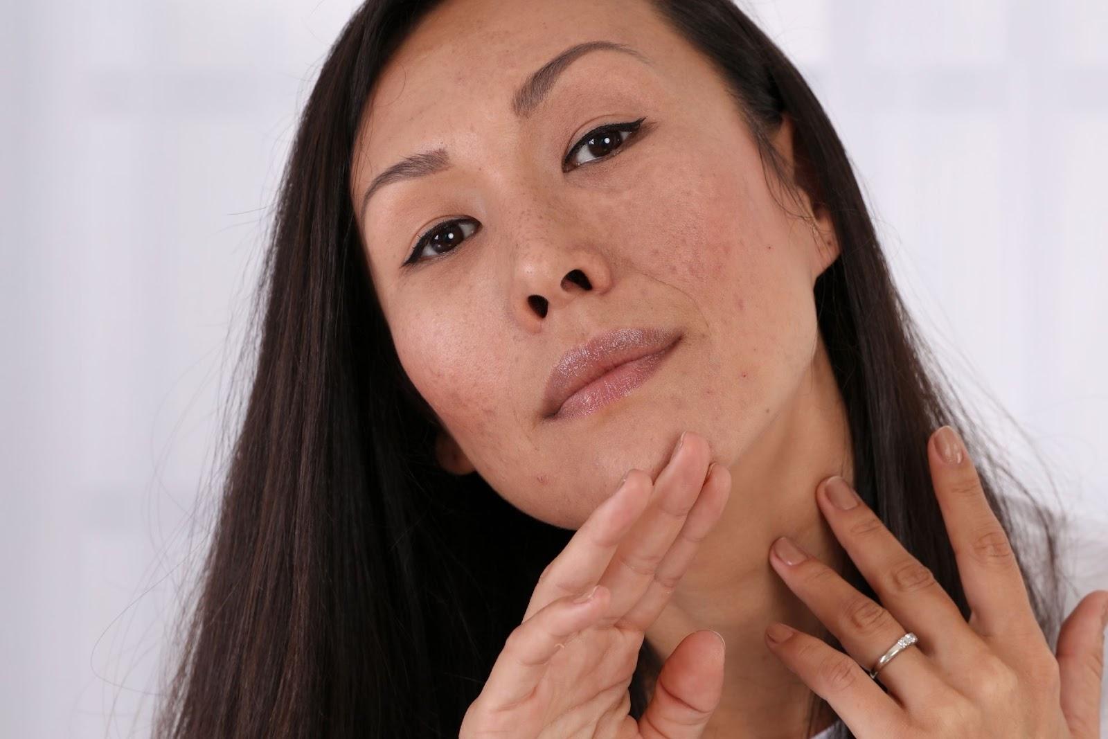 A woman with long dark hair